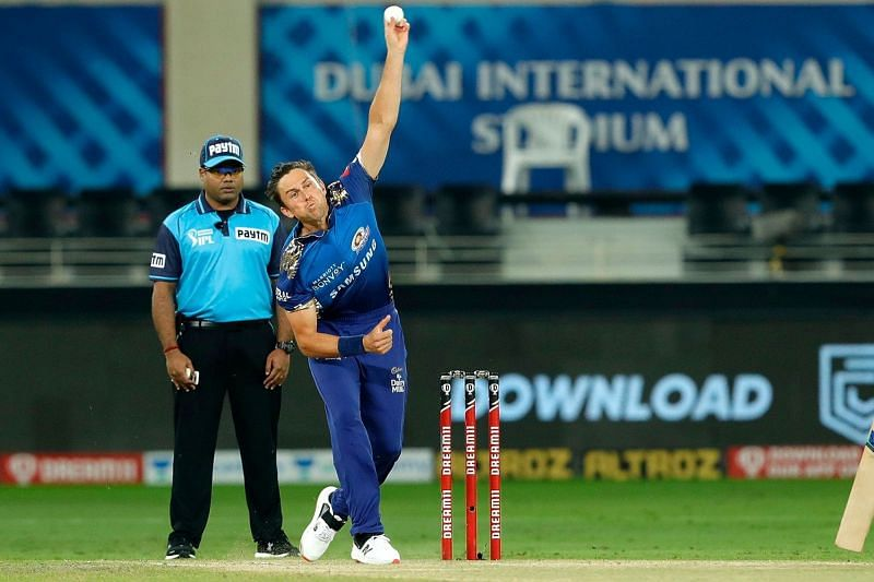 Trent Boult got rid of two Delhi Capitals batsmen in the first over itself [P/C: iplt20.com]