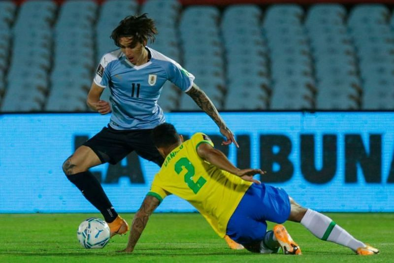 Uruguay left a lot to be desired in attack against Brazil.