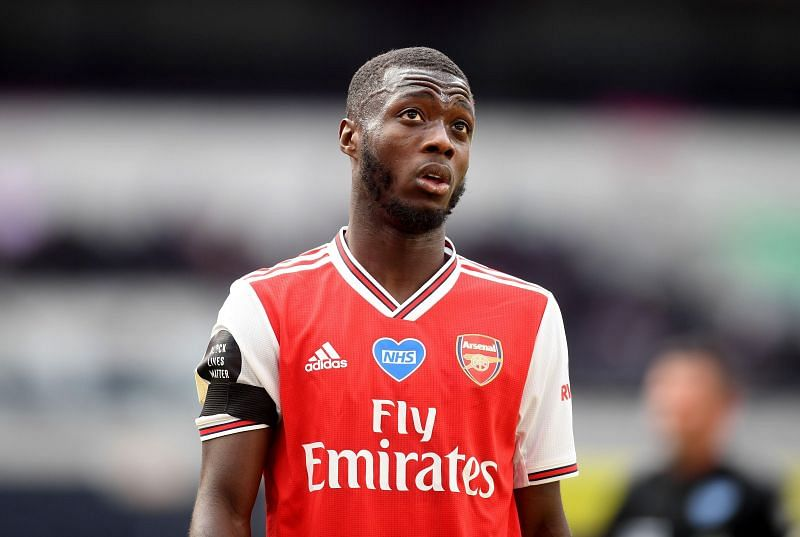 Nicolas Pepe is not happy with his lack of game time at Arsenal