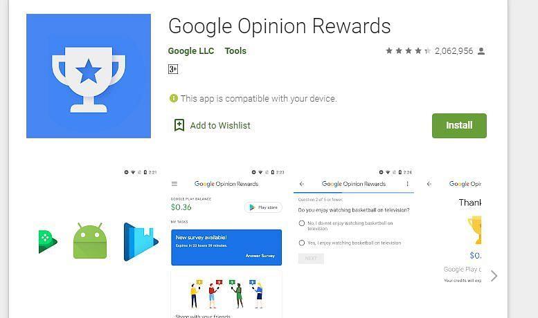 गूगल ओपिनियन रिवार्ड्स