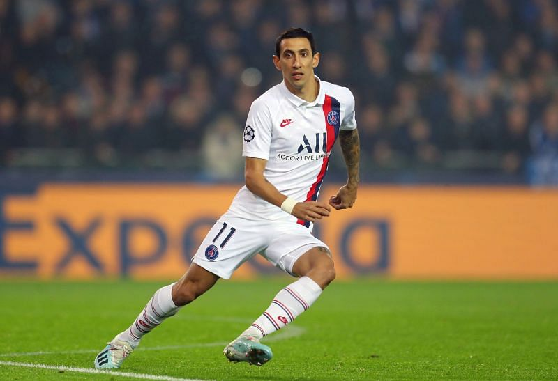 Angel Di Maria in Paris Saint-Germain colours