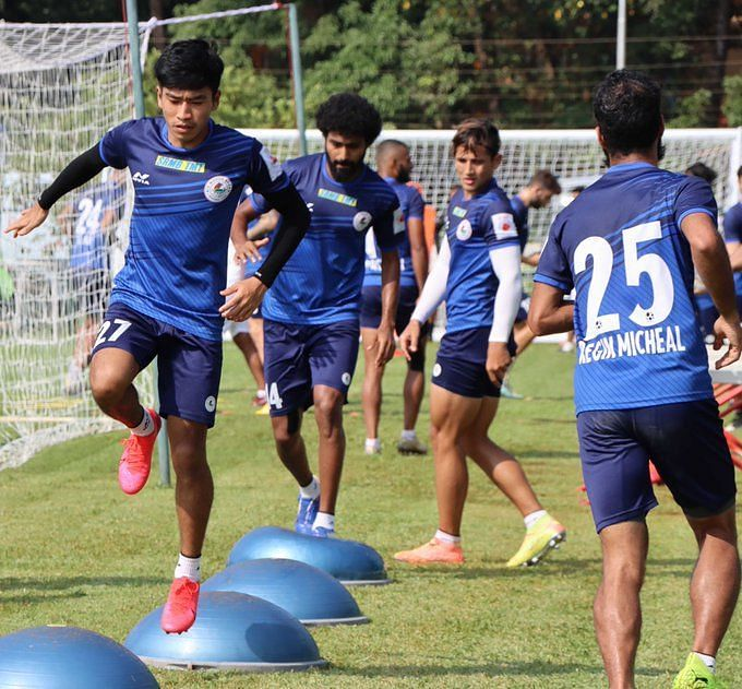 ATK Mohun Bagan players during a training session ahead of ISL 2020-21 (Image credits: ATK Mohun Bagan Twitter)