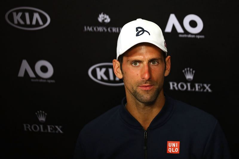 Novak Djokovic after his loss to Denis Istomin at the 2017 Australian Open