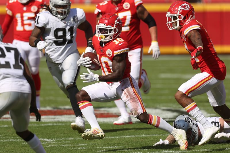 Tyreek Hill has been sprinting past defenses all season for the Kansas City Chiefs