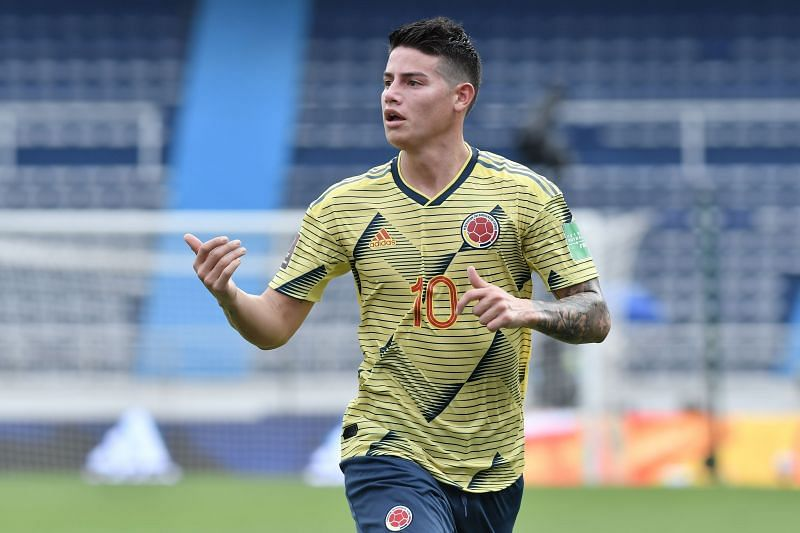 Colombia forward James Rodriguez - South American Qualifiers for Qatar 2022