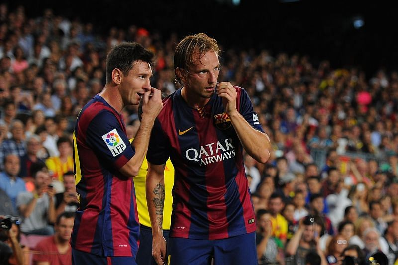 Rakitic and Messi spent six years together at Barcelona.
