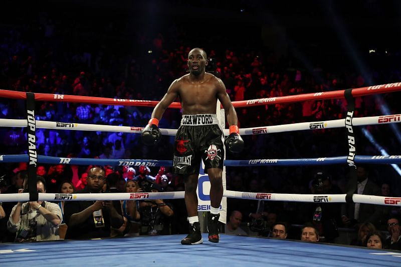 Terence Crawford stands in a neutral corner