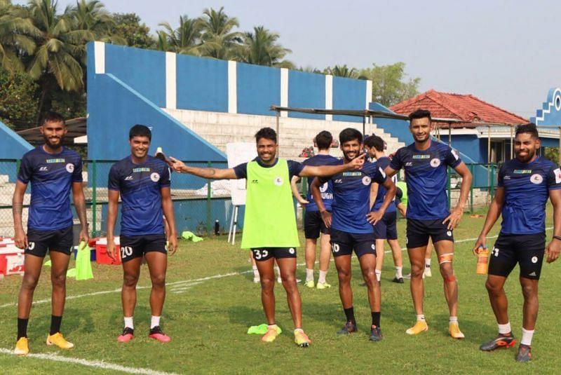 ATK Mohun Bagan players during training session (Image credits: ATK Mohun Bagan Twitter)