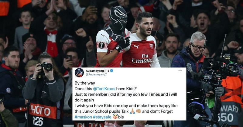 Arsenal striker Aubameyang did not hold back in his response to Real Madrid
