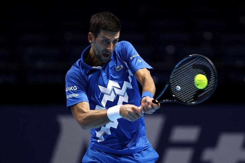 Novak Djokovic at the Nitto ATP Finals