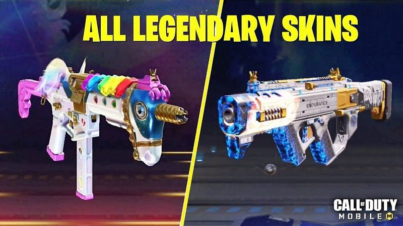 COD Mobile: List of legendary weapons available in the game (Image Credits: AnonymousYT / YouTube)