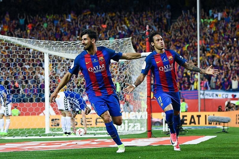 Neymar spent four successful years with Barcelona