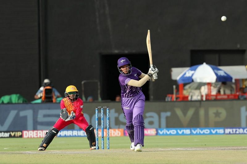 Shafali Verma in action for Velocity. Image credits - IPL