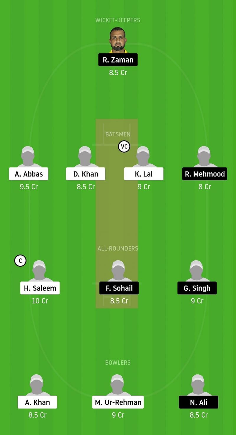 Dream11 Team for BSH vs CTL - ECS Barcelona Bash 2020.