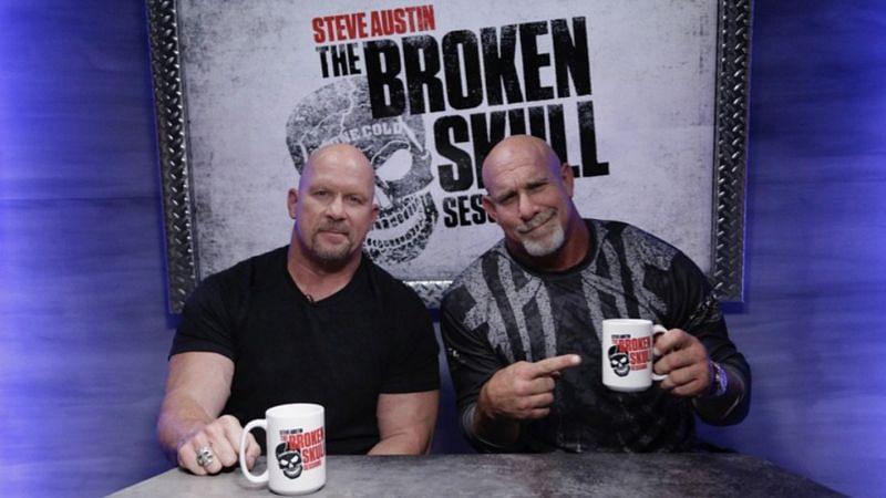 Steve Austin and Goldberg