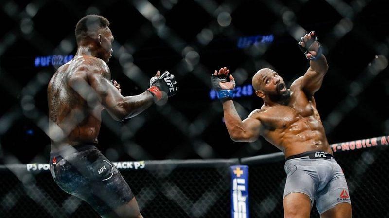 Israel Adesanya defeated Yoel Romero in their UFC Middleweight Championship clash
