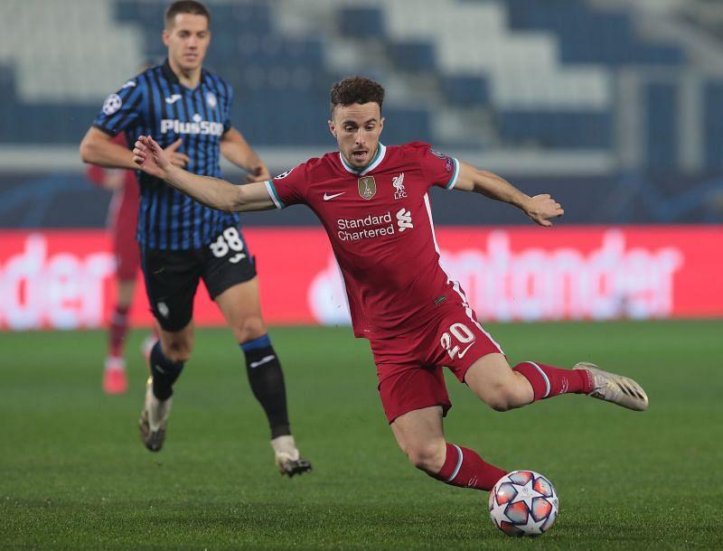 Diogo Jota scored a hat-trick in the Champioins League against Atalanta