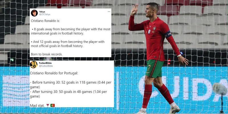 Cristiano Ronaldo scored Portugal