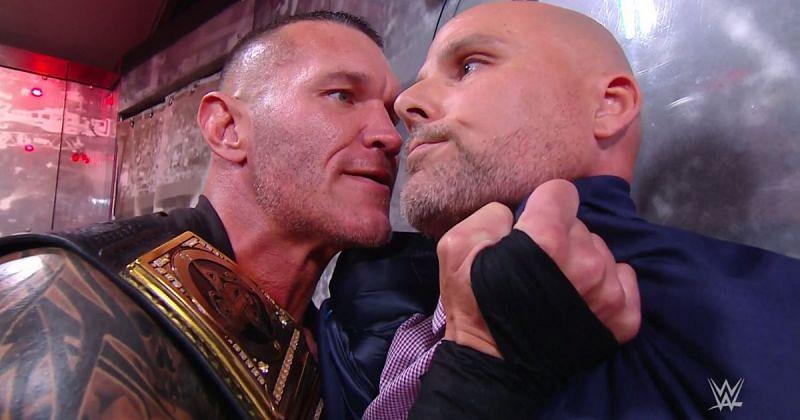 Randy Orton and Adam Pearce.