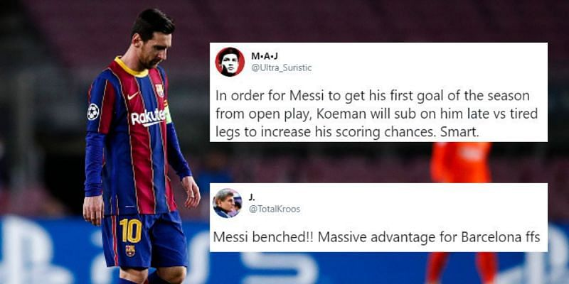 Lionel Messi is on the bench for Barcelona against Real Betis