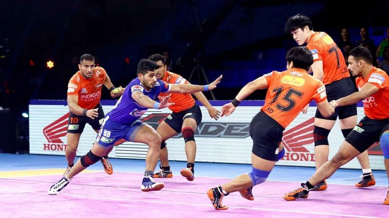 Sandeep Narwal plays at the right corner position for U Mumba