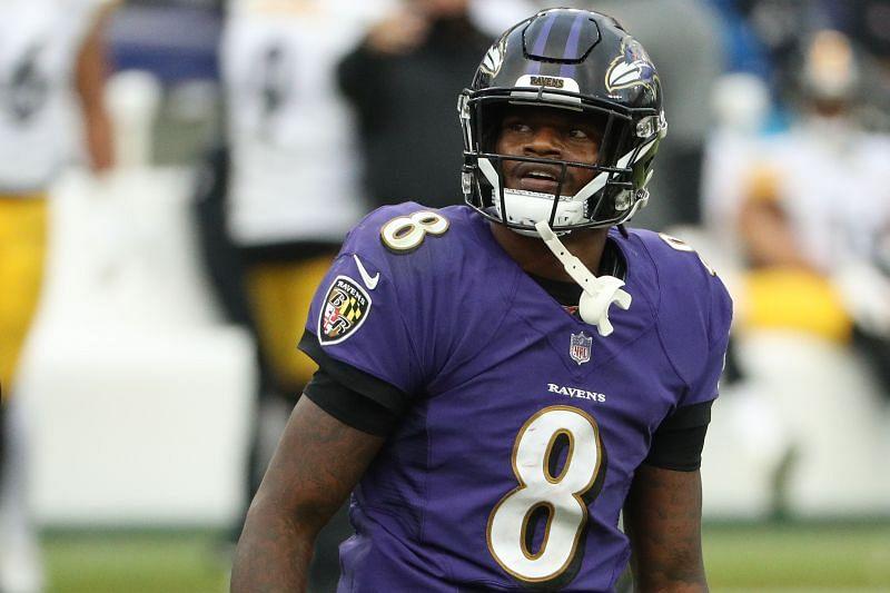 Baltimore Ravens QB Lamar Jackson Enter caption