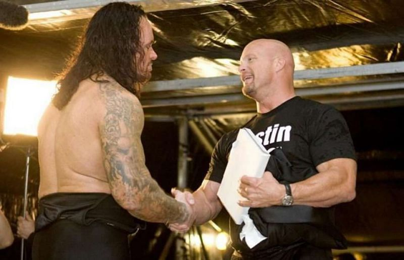 The Undertaker with Stone Cold Steve Austin