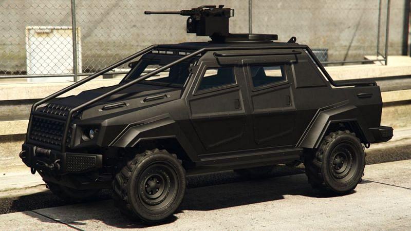 The HVY Insurgent Pick-Up Custom (Image via gta.fandom.com)
