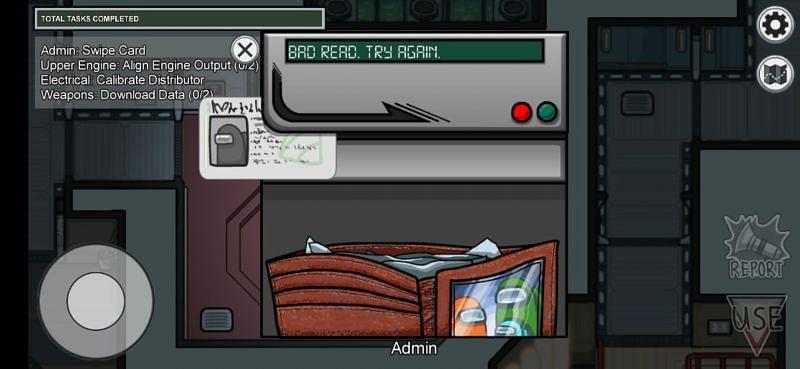 The Admin Swipe card task in The Skeld