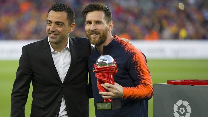 Xavi was a mentor to Lionel Messi at Barcelona