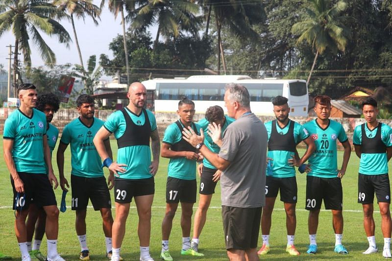 A glimpse of the Jamshedpur FC training session