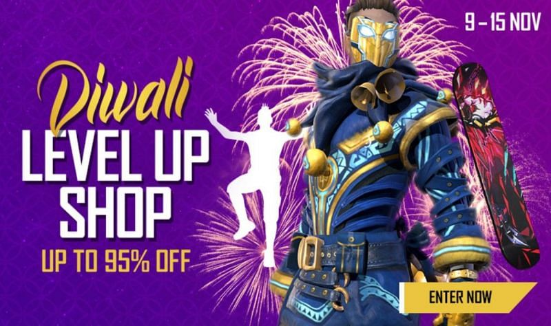 Details about the Diwali Level Up Shop in Free Fire