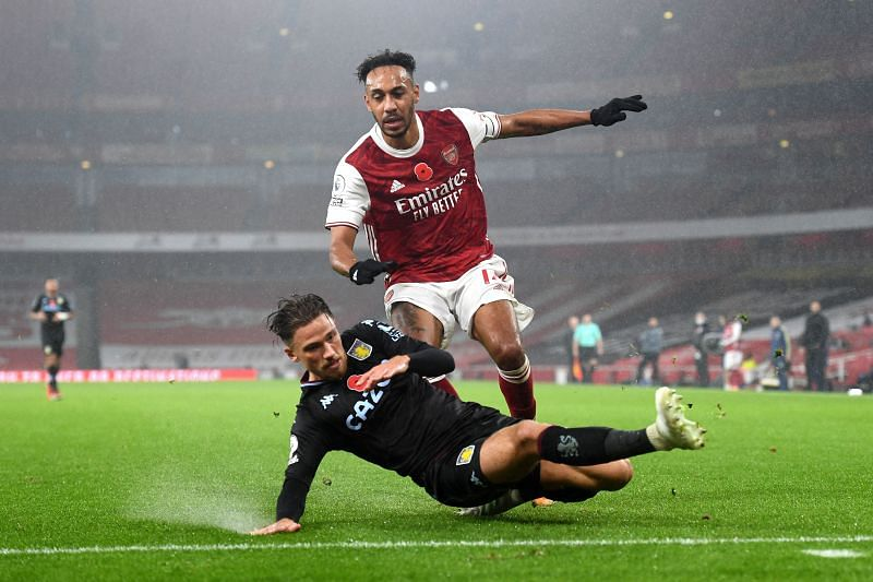 Matty Cash worked remarkably hard to keep Pierre-Emerick Aubameyang at bay.