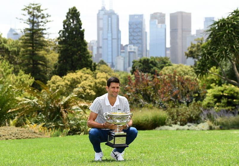 Novak Djokovic at the 2019 Australian Open