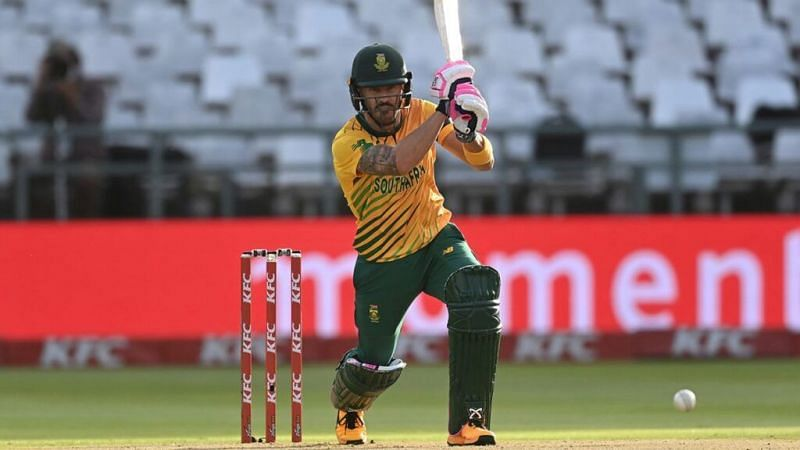 Du Plessis scored 58 runs in the series opener.
