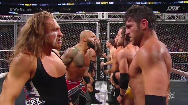 The team stare down at NXT WarGames 2018 Enter caption