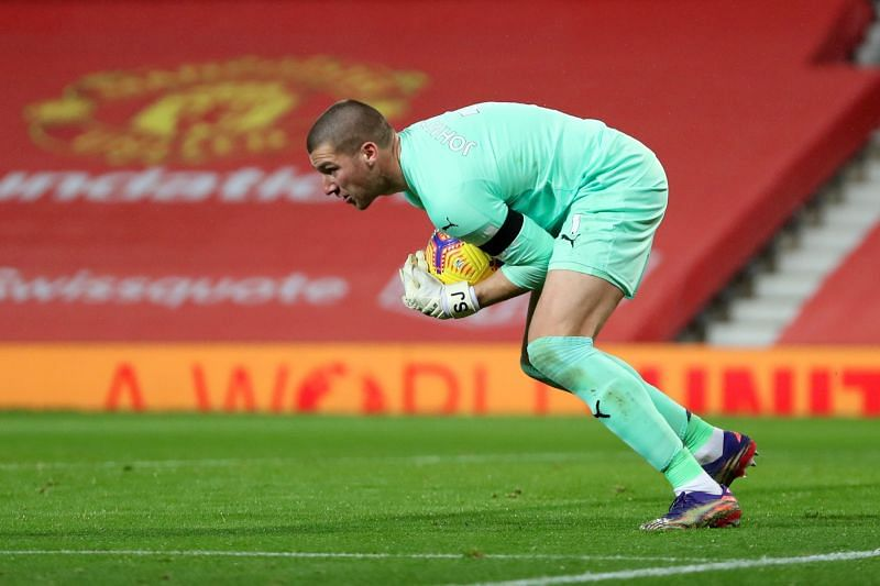 Former Manchester United goalkeeper Sam Johnstone was called into action early on in the game