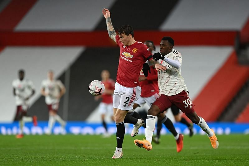 Lindelof (L) picked up a back injury while on international duty