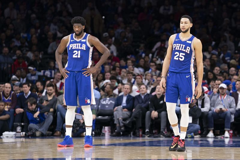 Philadelphia 76ers stars Simmons and Embiid