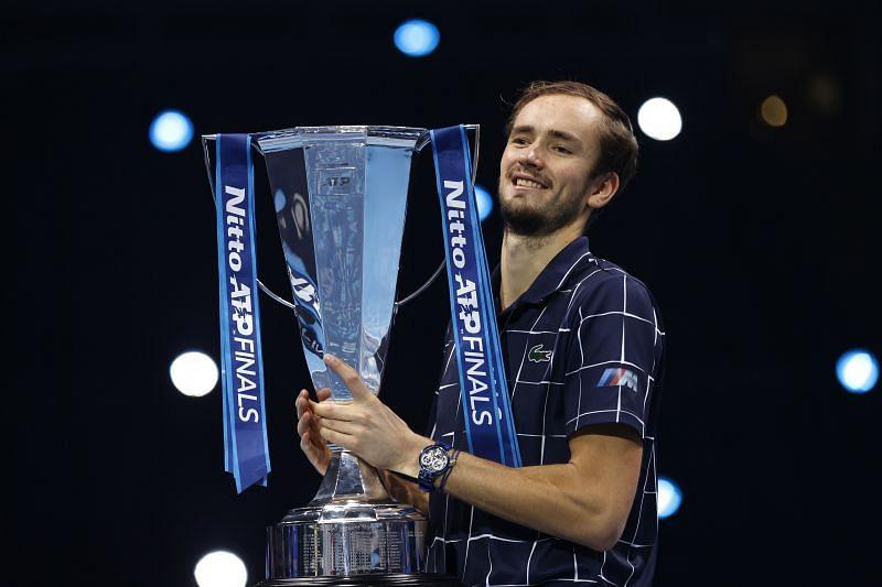 Daniil Medvedev with the winner