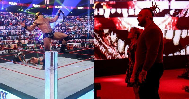 Drew McIntyre, Alexa Bliss, and Bray Wyatt.