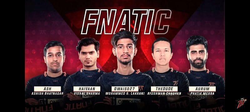 Team Fnatic India (Image via - GoodGame1 YouTube)