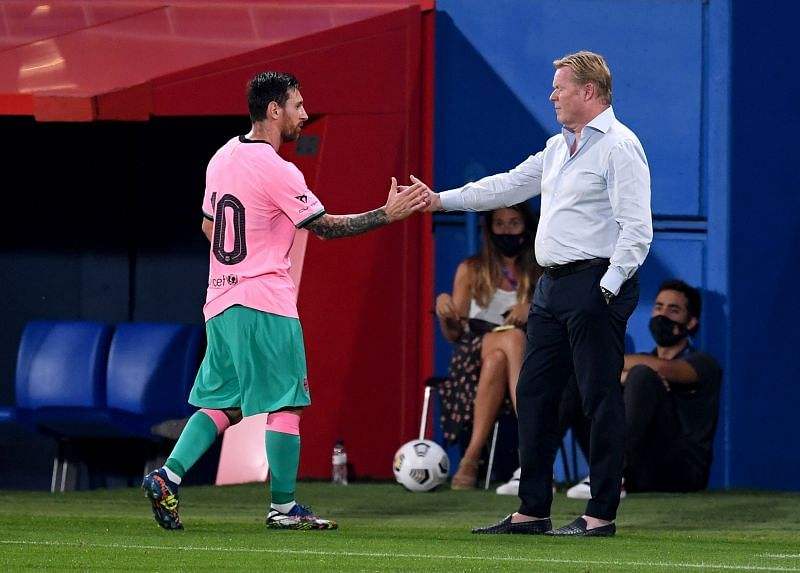 FC Barcelona manager Ronald Koeman will be hoping to convince his star man Lionel Messi