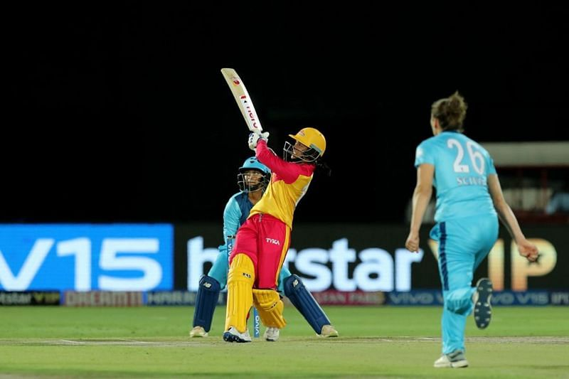 Smriti Mandhana in action for the Trailblazers. Image credits - IPL