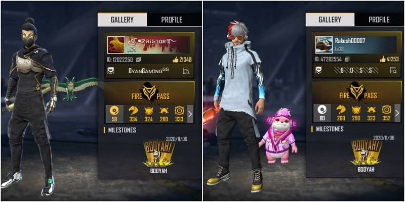 Who has better stats between Raistar and Rakesh00007 in Free Fire?