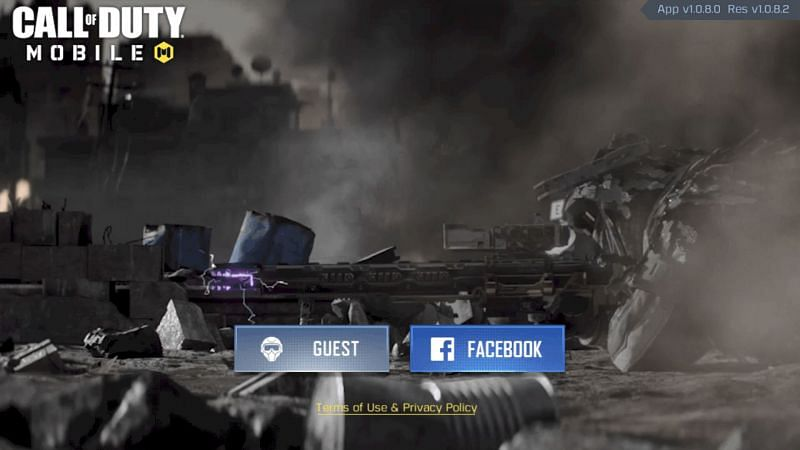 Call of Duty: Mobile login page (Image Credits: Call of Duty: Mobile)