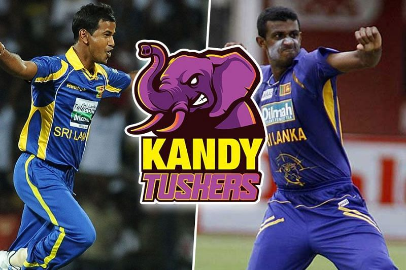 Nuwan Kulasekara and Farveez Maharoof are a part of the Kandy Tuskers support staff