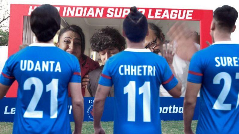 Hero ISL - Sunil Chhetri and Fan Wall