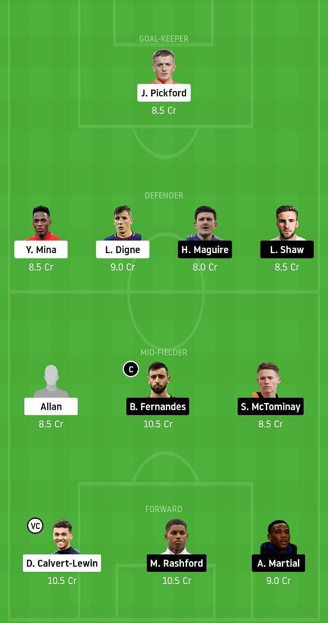 Everton vs Manchester United Dream11 Tips