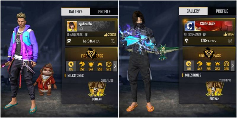Ajjubhai vs TSG Jash: Who has the better stats in Free Fire?